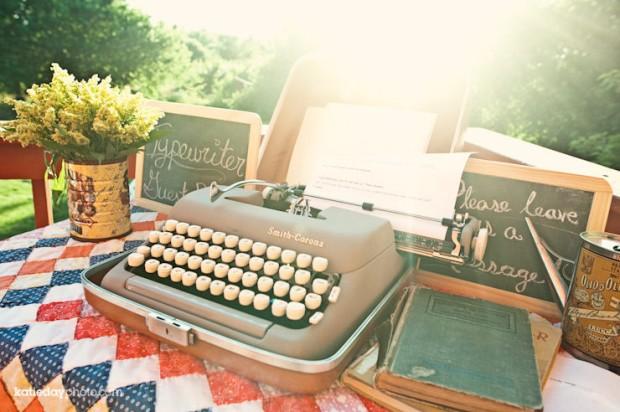 idea para boda maquina escribir vintage para escribir mensajes a novios 2